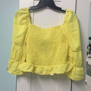 Forever21 smock yellow shirt